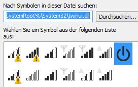 Das gesuchte Symbol im Systemordner.